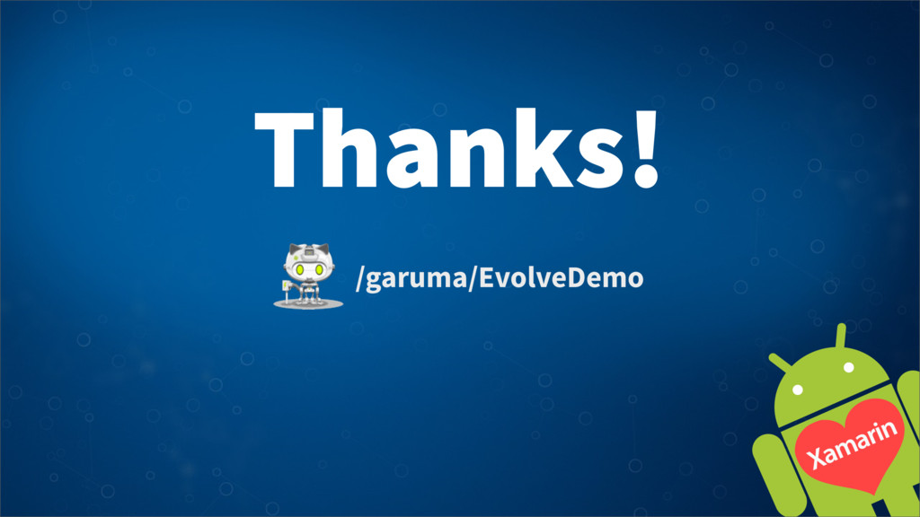 Thanks! /garuma/EvolveDemo