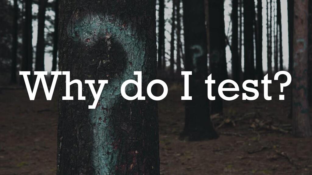 @glennsarti Why do I test?