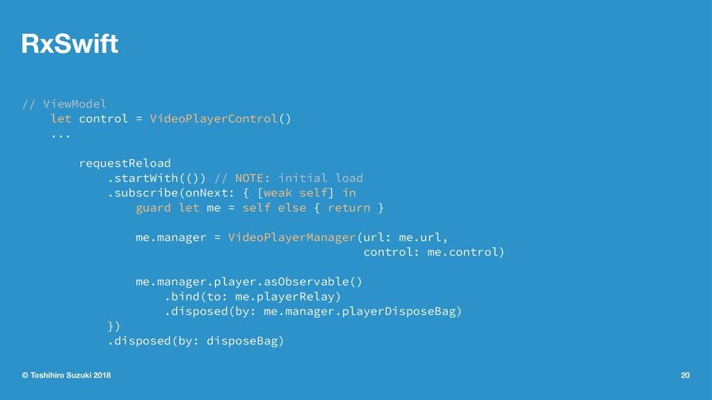 RxSwift // ViewModel let control = VideoPlayerC...