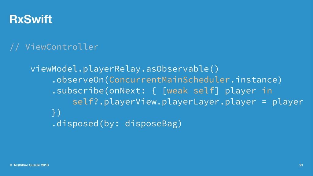 RxSwift // ViewController viewModel.playerRelay...