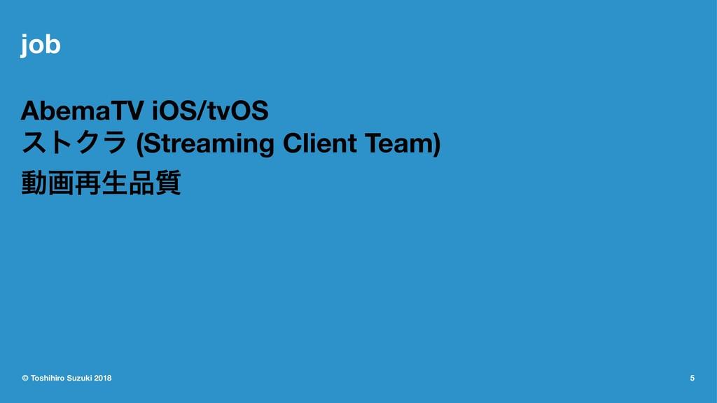 job AbemaTV iOS/tvOS ετΫϥ (Streaming Client Tea...