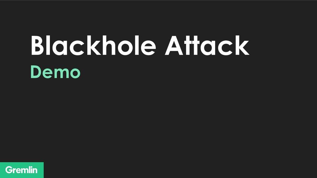 Blackhole Attack Demo