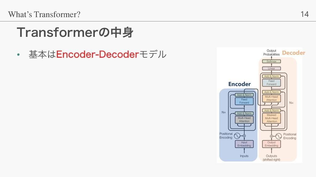 14 5SBOTGPSNFSͷத What's Transformer? • جຊ&ODP...
