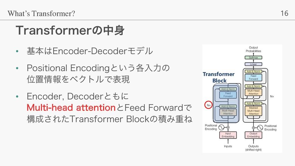16 5SBOTGPSNFSͷத What's Transformer? • جຊ&ODP...