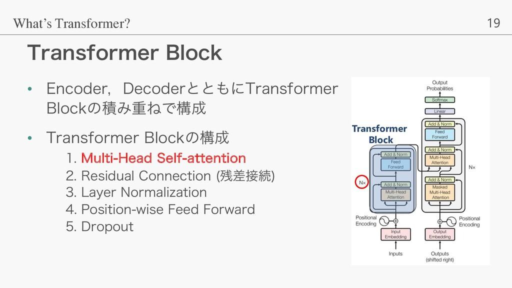 19 5SBOTGPSNFS#MPDL What's Transformer? • &ODP...