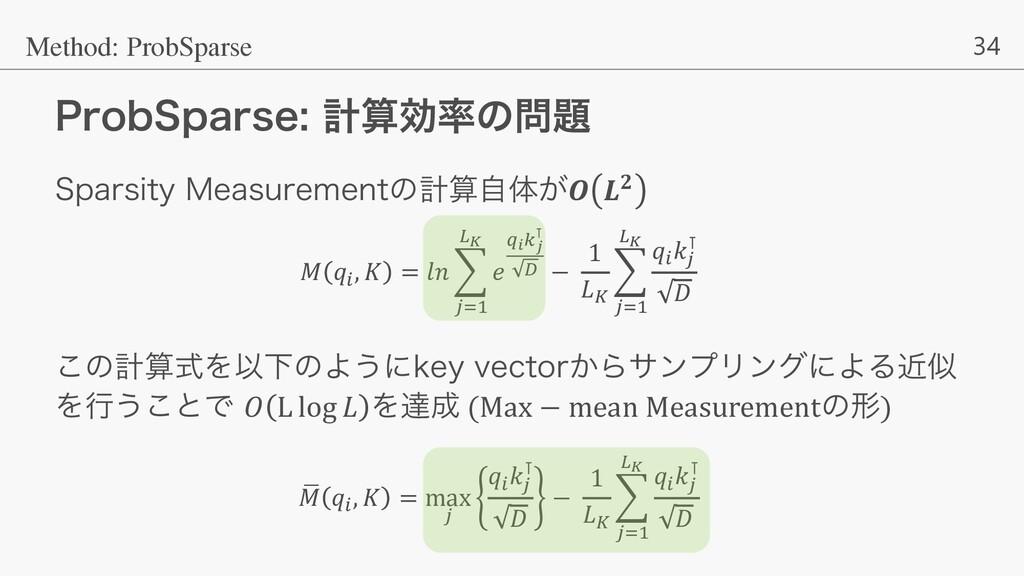 34 1SPC4QBSTFܭޮͷ Method: ProbSparse 4QBST...