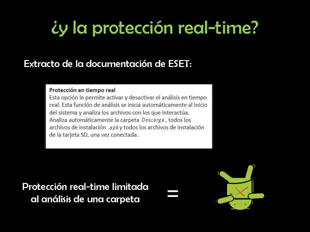¿y la protección real-time? Extracto de la docu...
