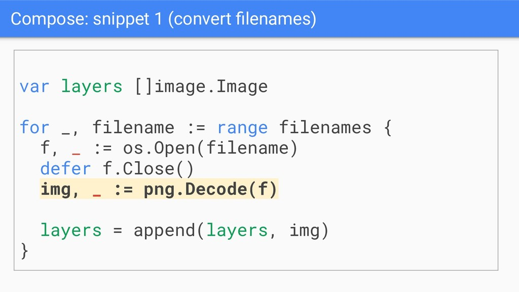 Compose: snippet 1 (convert filenames) var layer...