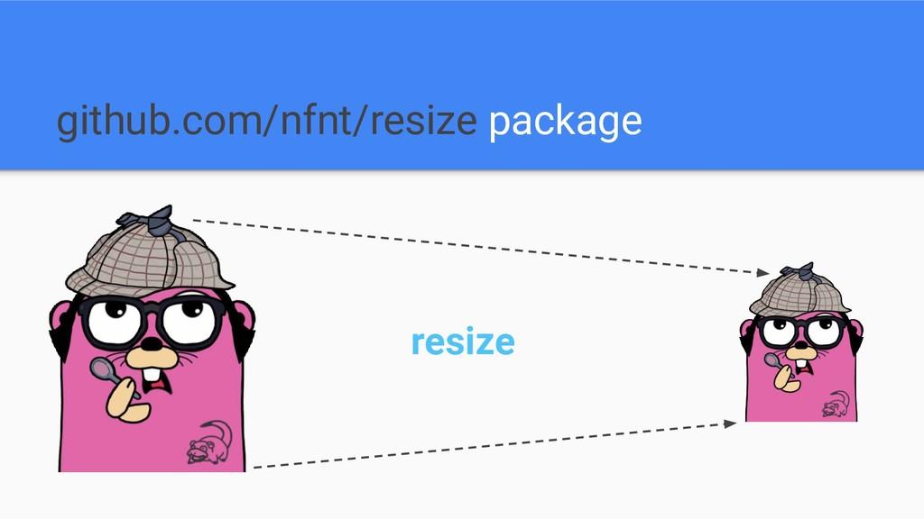 github.com/nfnt/resize package resize