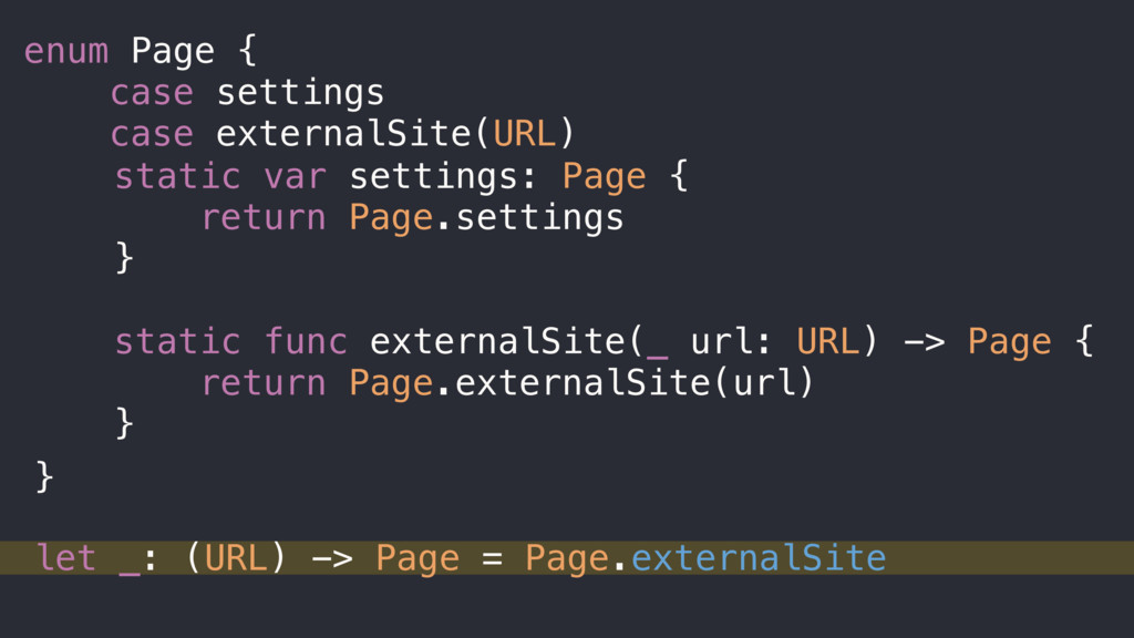 static var settings: Page { return Page.setting...