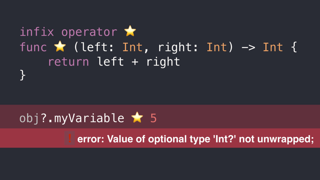! error: Value of optional type 'Int?' not unwr...