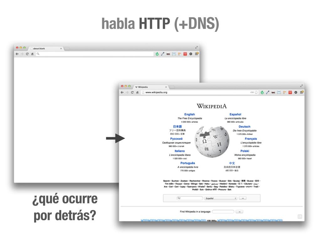 ¿qué ocurre por detrás? habla HTTP (+DNS)