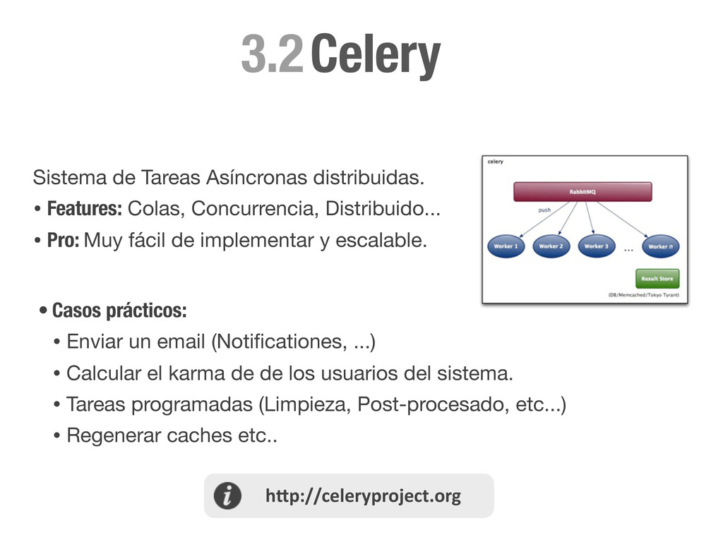 Celery 3.2 Sistema de Tareas Asíncronas distrib...