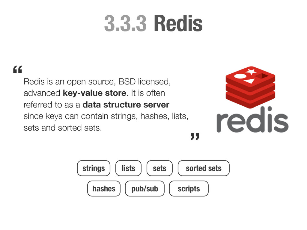 Redis 3.3.3 Redis is an open source, BSD licens...
