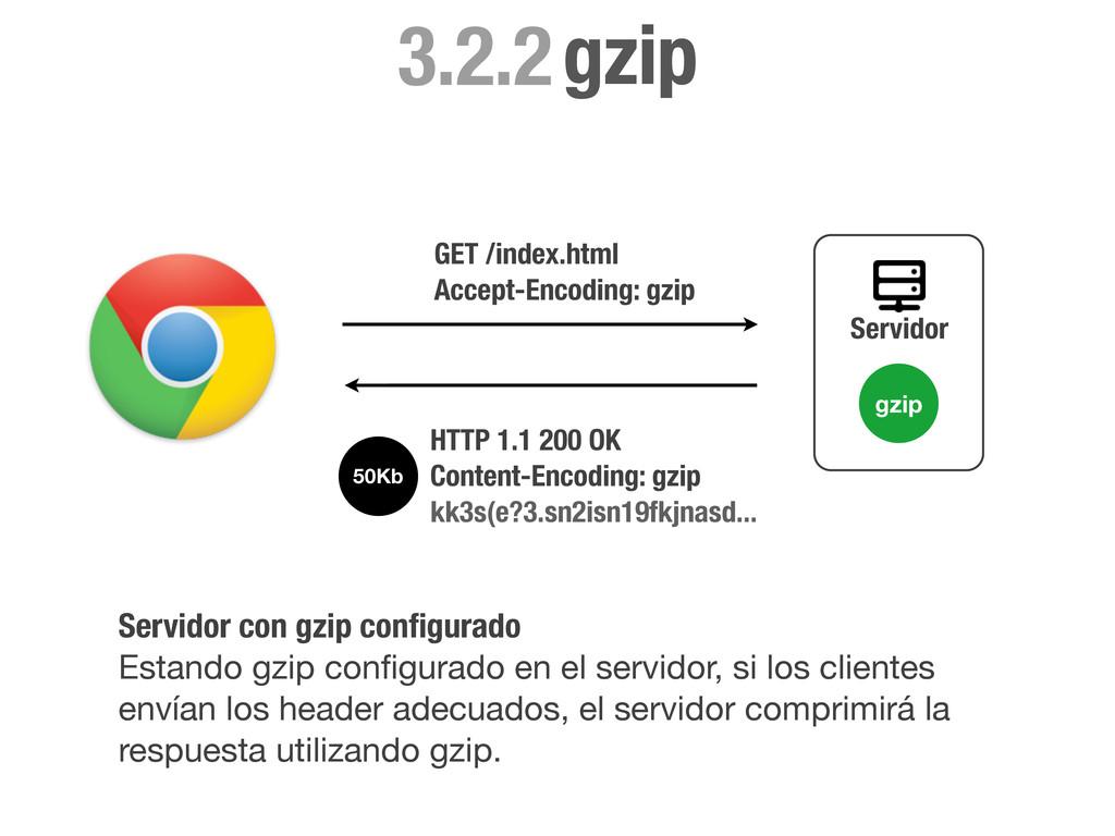 GET /index.html Accept-Encoding: gzip Servidor ...