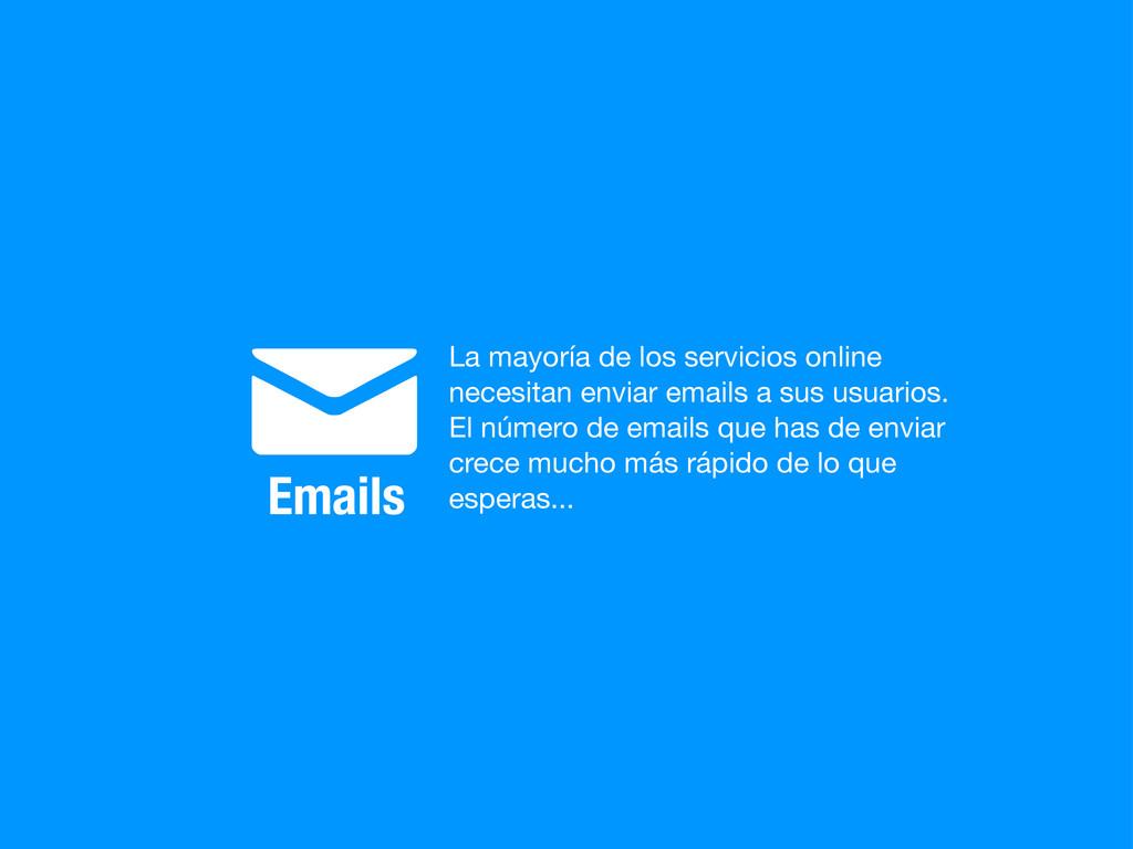 ✉ Emails La mayoría de los servicios online nec...