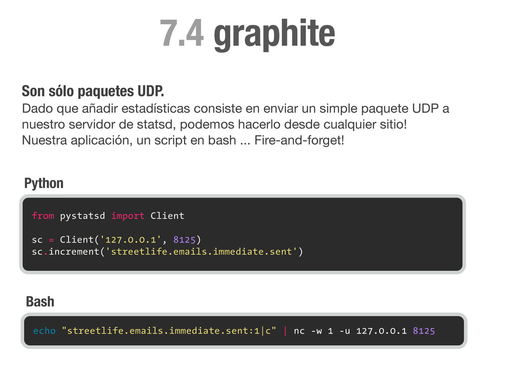 graphite 7.4 from pystatsd import Client sc = C...