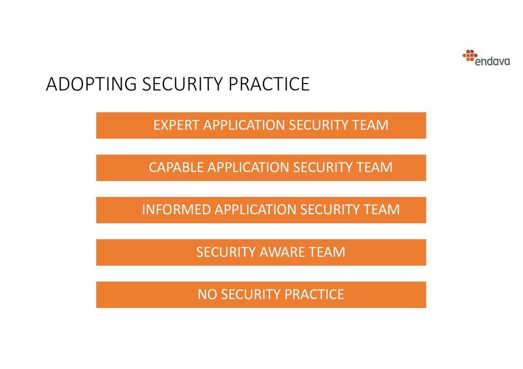 ADOPTING SECURITY PRACTICE EXPERT APPLICATION S...