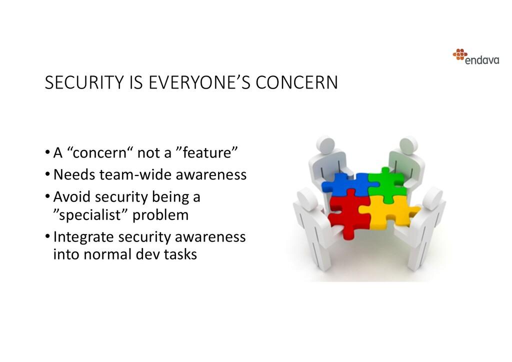 """SECURITY IS EVERYONE'S CONCERN • A """"concern"""" no..."""
