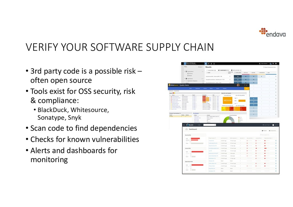 VERIFY YOUR SOFTWARE SUPPLY CHAIN • 3rd party c...