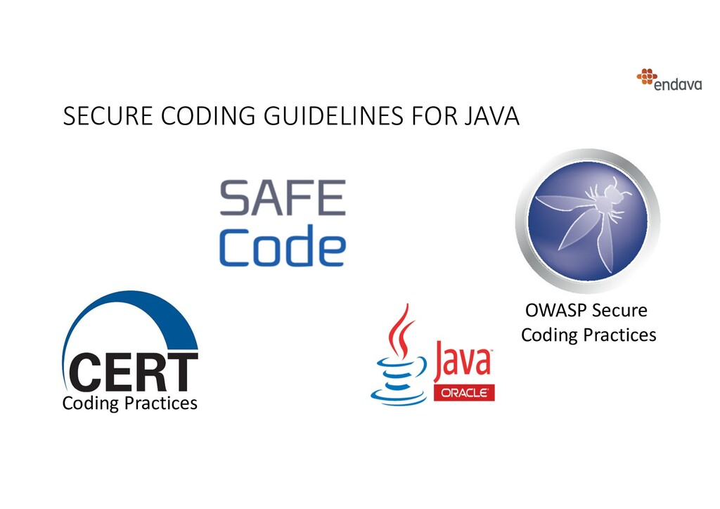 SECURE CODING GUIDELINES FOR JAVA OWASP Secure ...