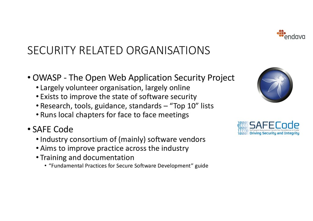SECURITY RELATED ORGANISATIONS • OWASP - The Op...
