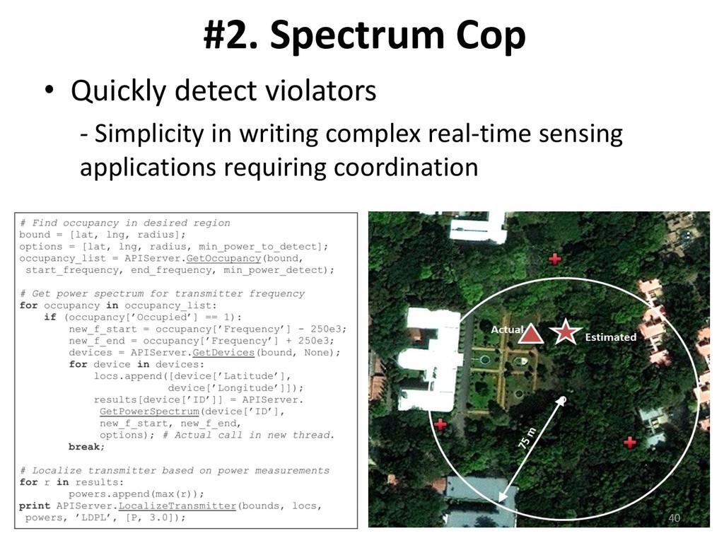 #2. Spectrum Cop • Quickly detect violators - S...