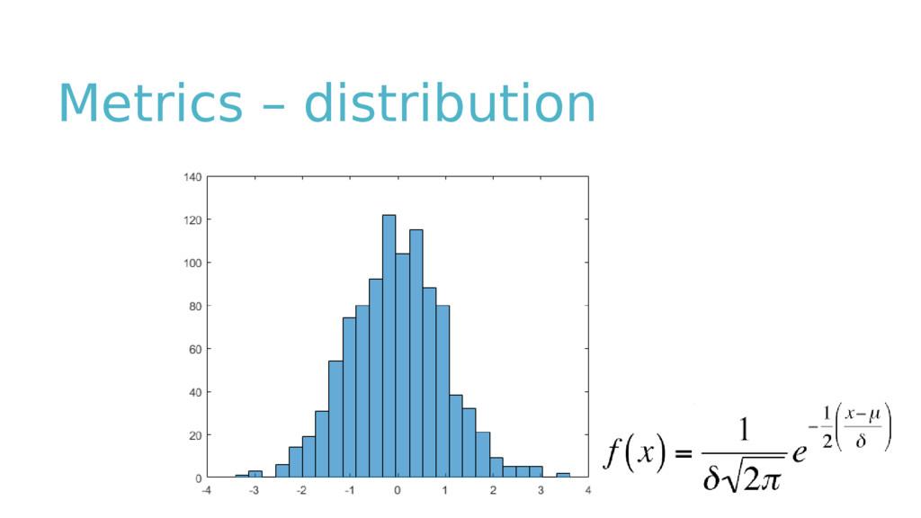 Metrics – distribution