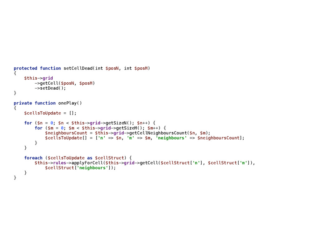 protected function setCellDead(int $posN, int $...