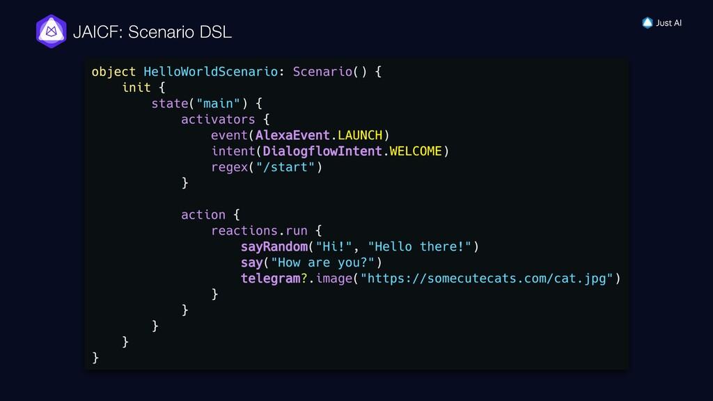 JAICF: Scenario DSL