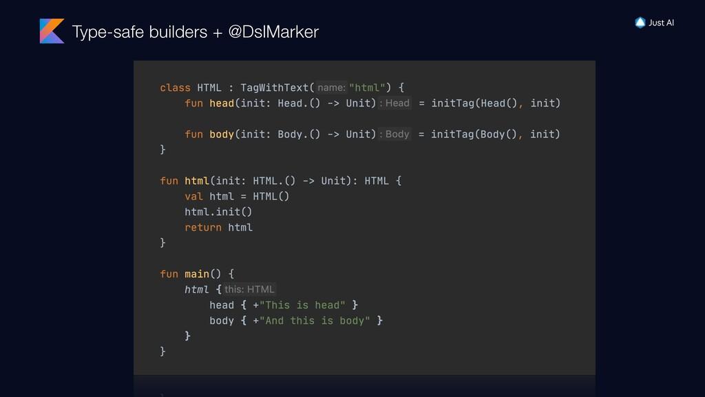 Type-safe builders + @DslMarker
