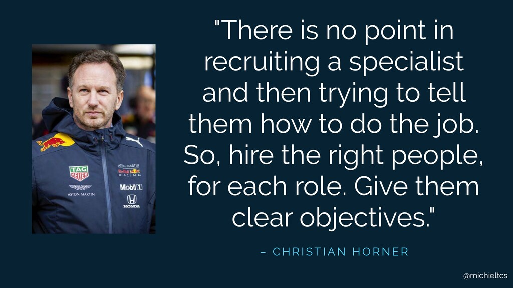 "@michieltcs ""There is no point in recruiting a ..."