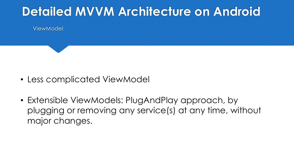 Detailed MVVM Architecture on Android ViewModel...