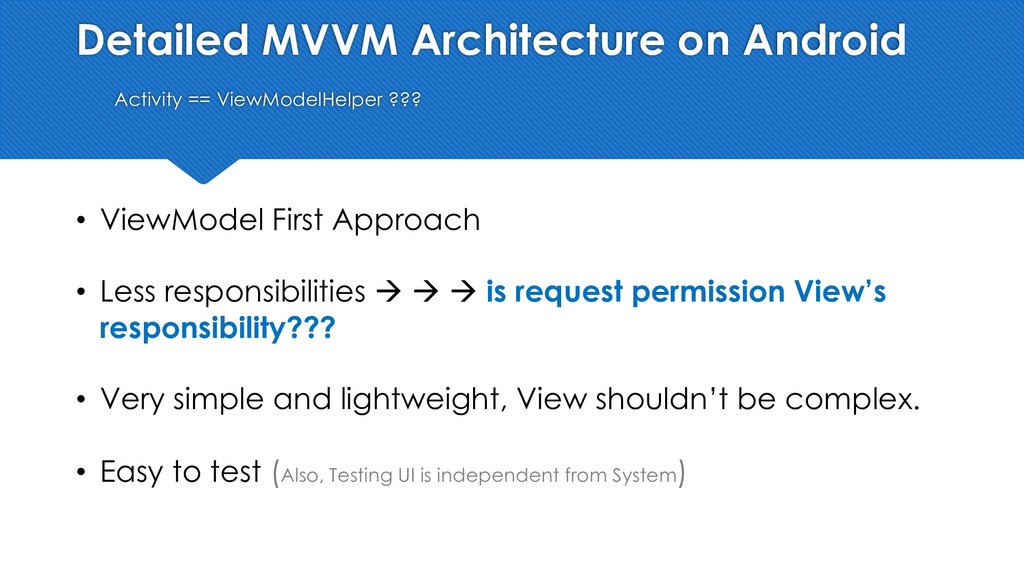 Detailed MVVM Architecture on Android Activity ...
