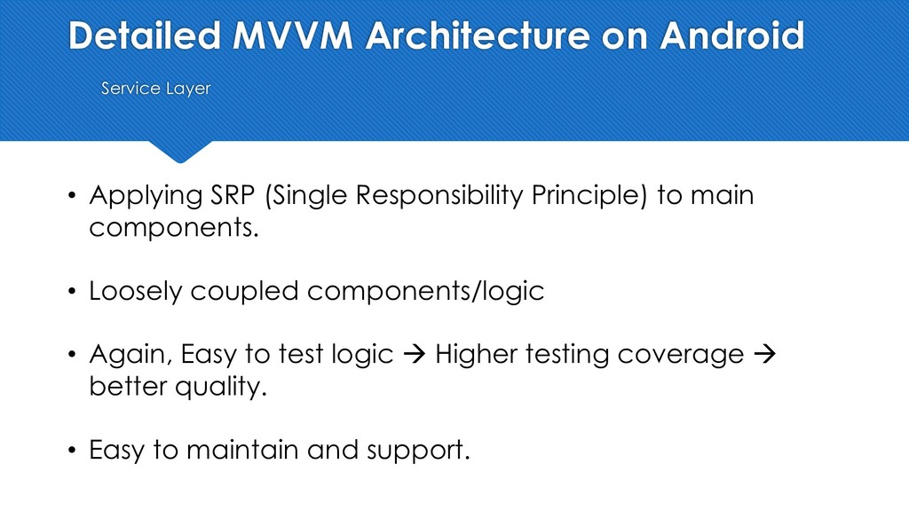 Detailed MVVM Architecture on Android Service L...
