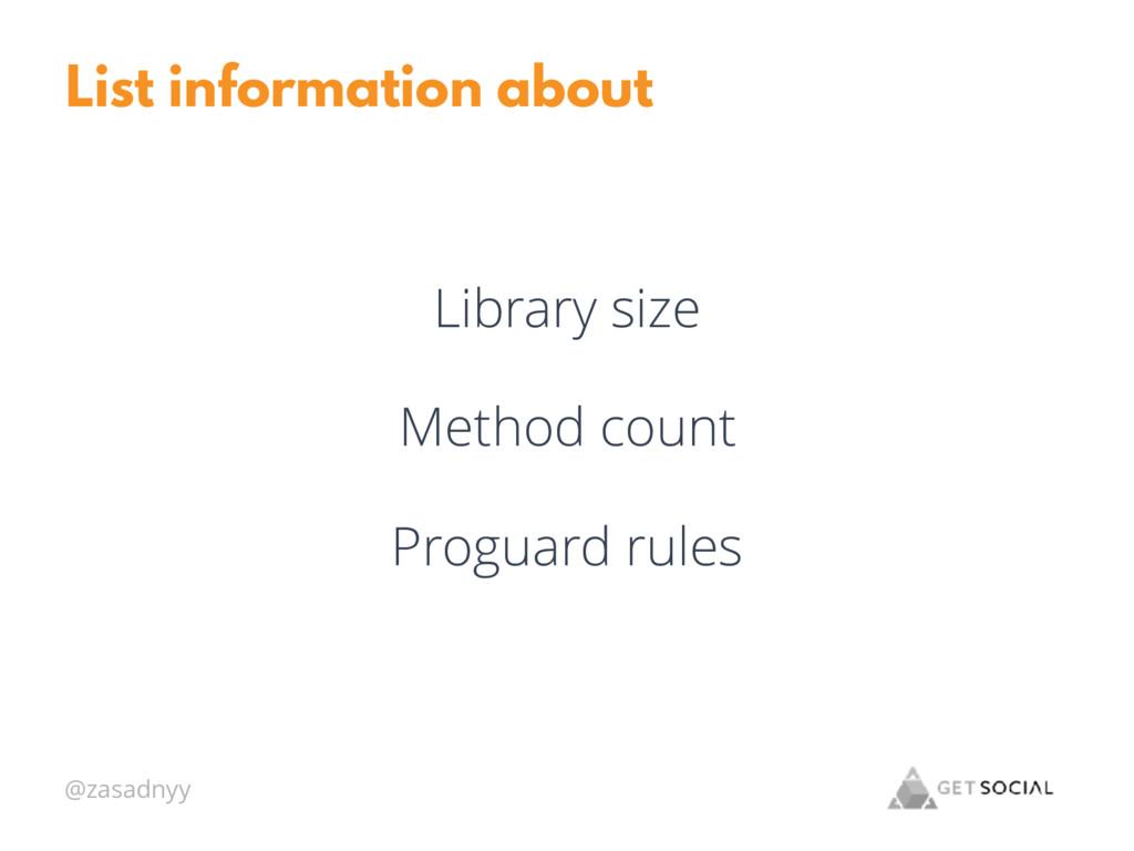 @zasadnyy List information about Library size M...
