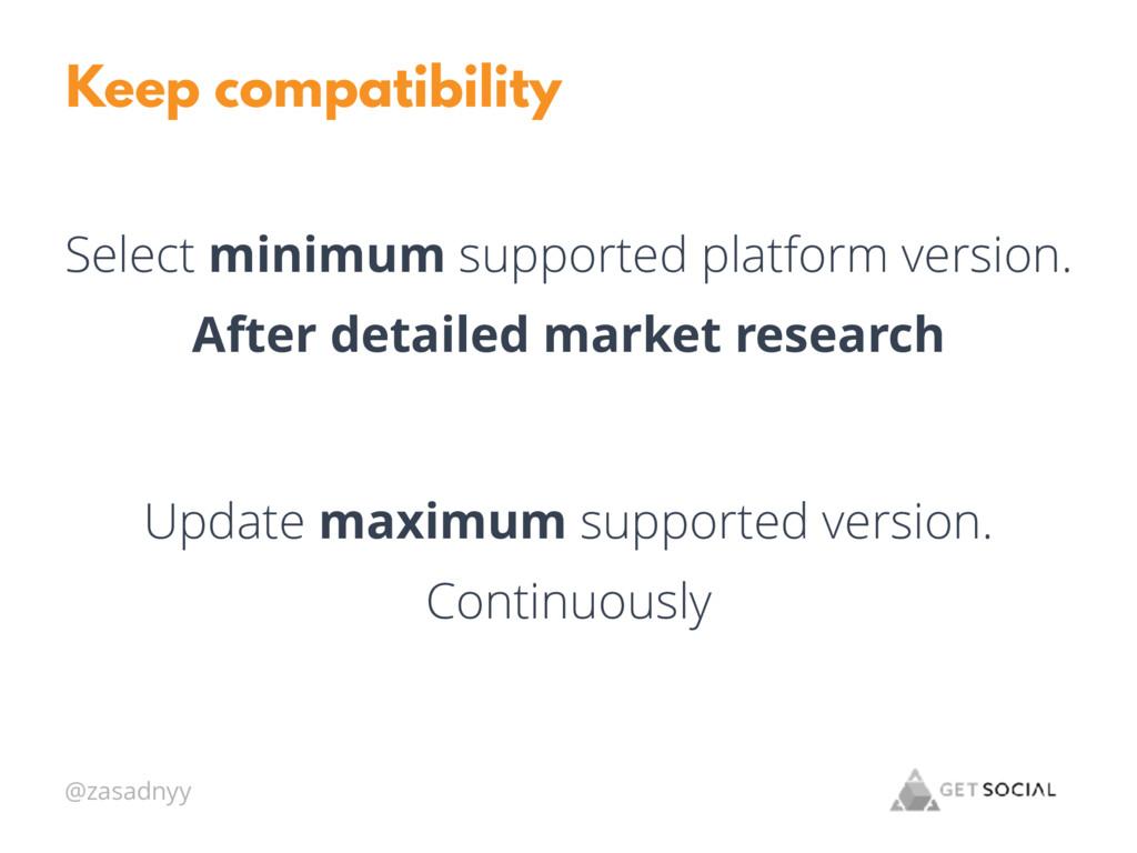 @zasadnyy Keep compatibility Select minimum sup...