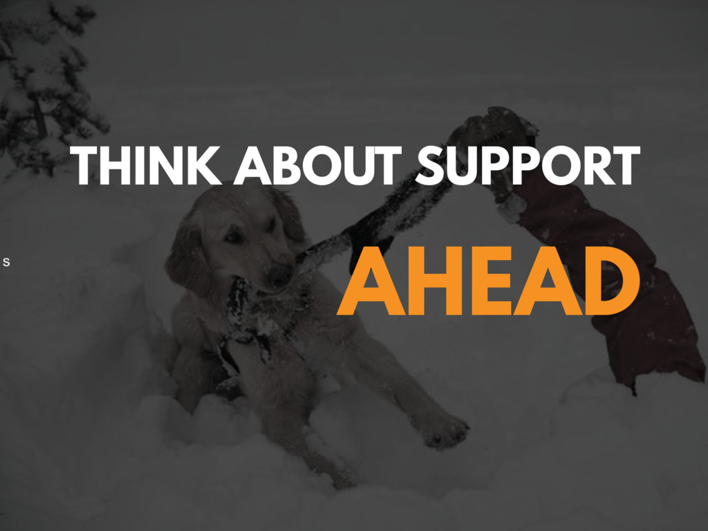 @zasadnyy s THINK ABOUT SUPPORT AHEAD