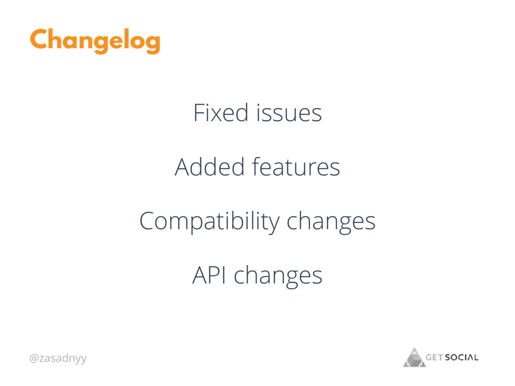 @zasadnyy Changelog Fixed issues Added features...
