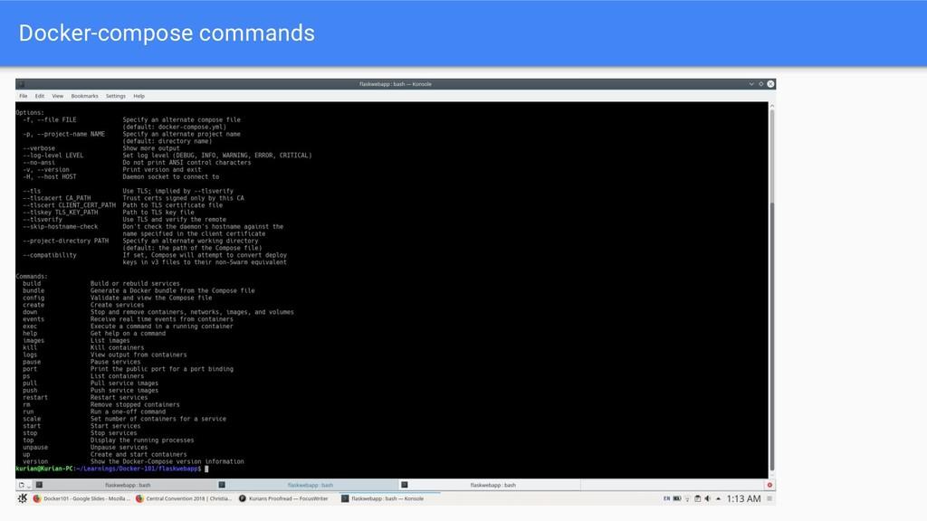 Docker-compose commands