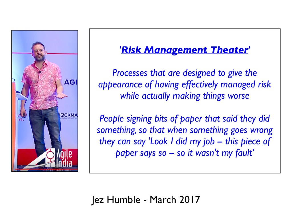 Jez Humble - March 2017 'Risk Management Theate...
