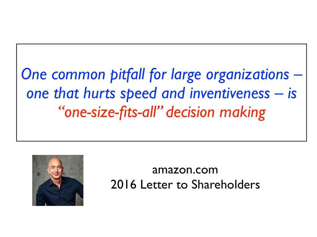One common pitfall for large organizations – on...
