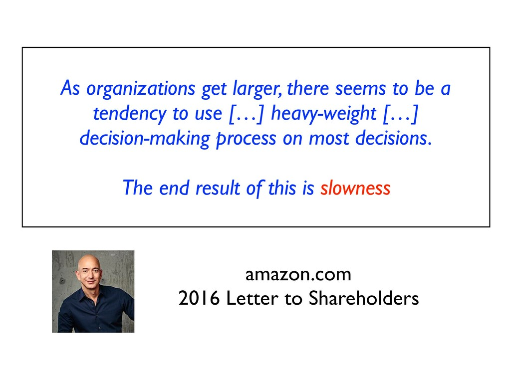 As organizations get larger, there seems to be ...