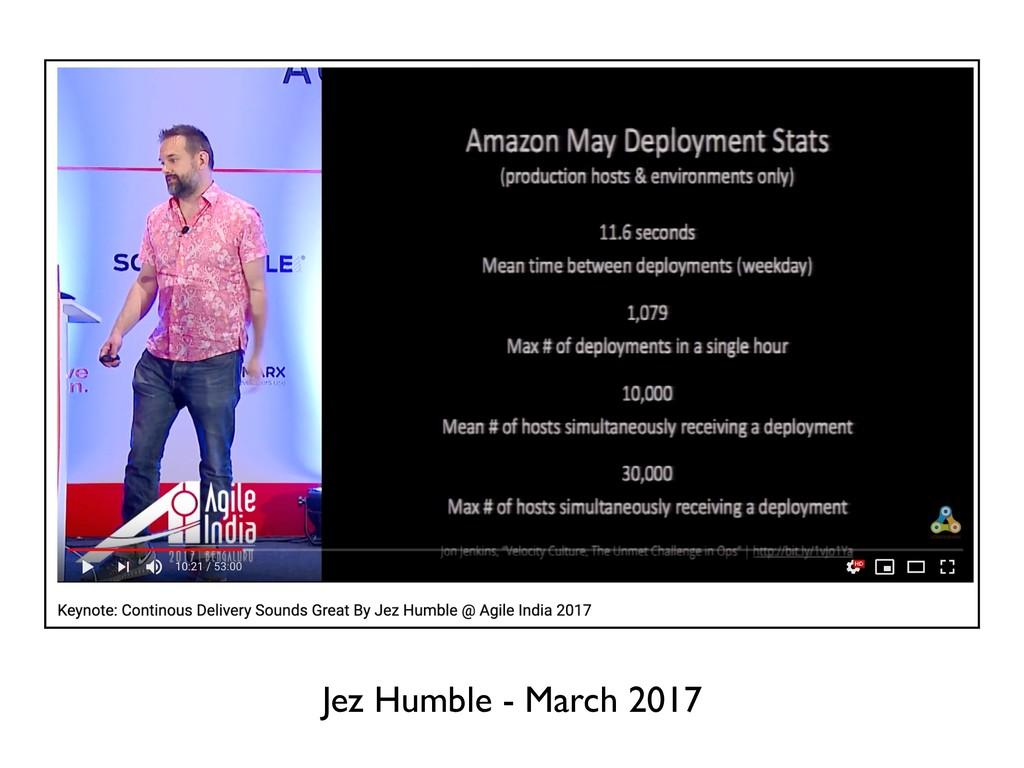 Jez Humble - March 2017