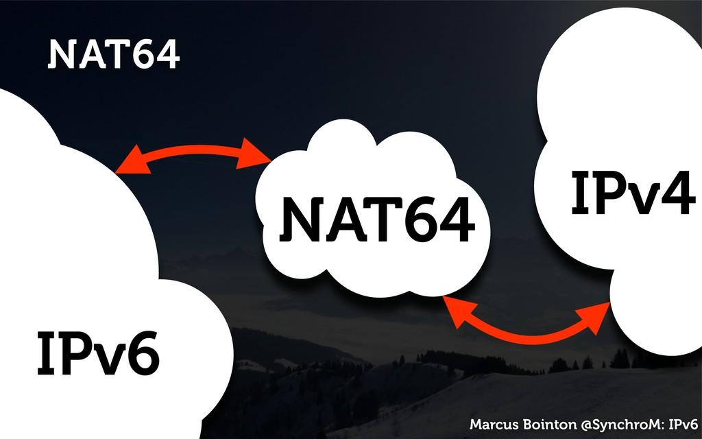 Marcus Bointon @SynchroM: IPv6 NAT64 IPv6 IPv4 ...