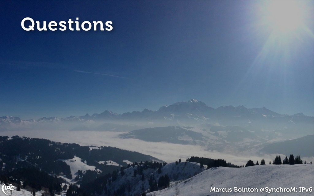 Marcus Bointon @SynchroM: IPv6 Questions