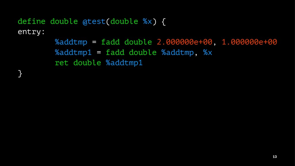 define double @test(double %x) { entry: %addtmp...