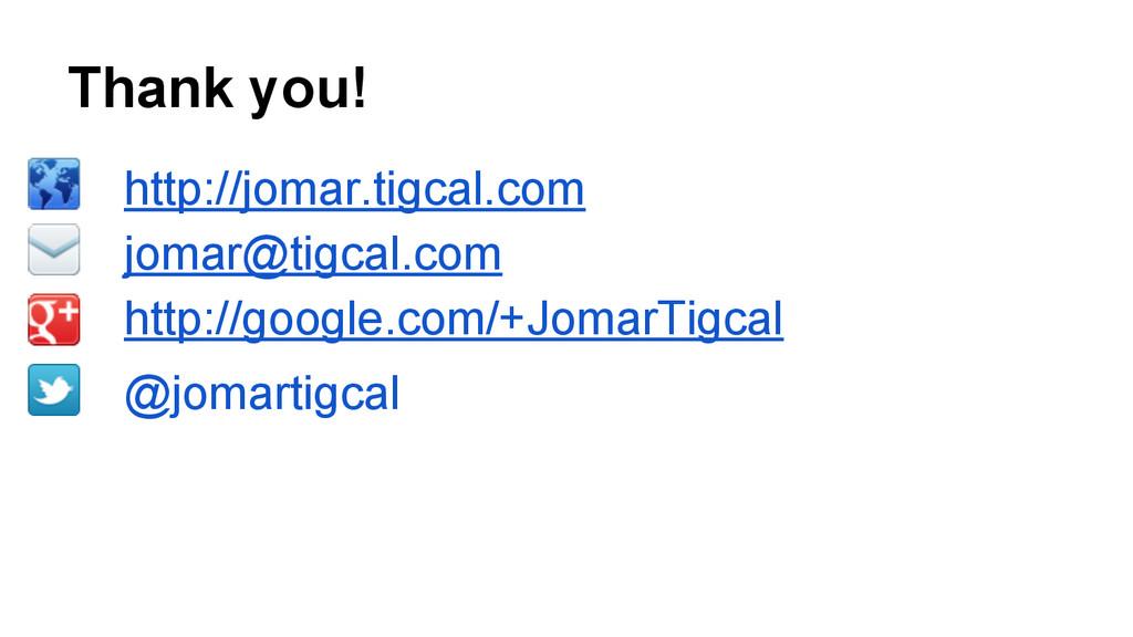 Thank you! http://jomar.tigcal.com jomar@tigcal...