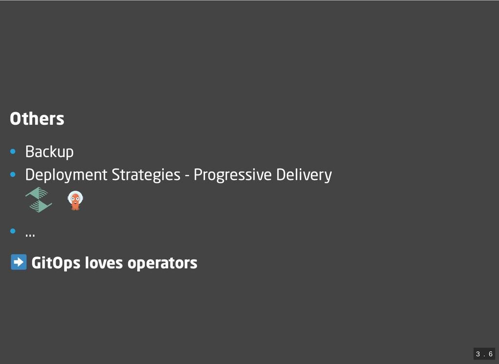 Others • Backup • Deployment Strategies - Progr...