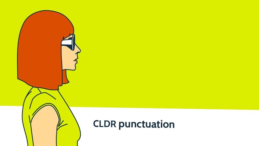 CLDR punctuation